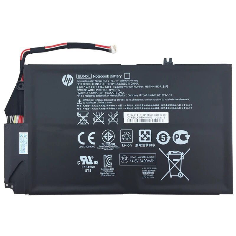 14.8V 52Wh HP Envy 4-1000 4-1100 4-1200 Series Battery