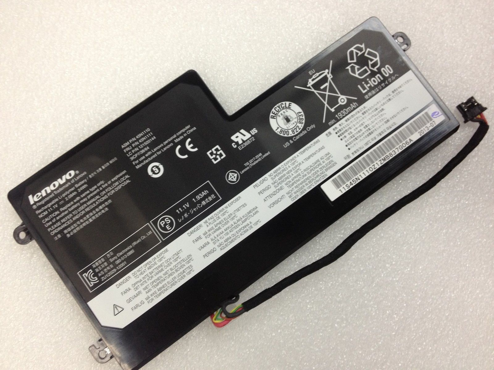 24Wh Lenovo ThinkPad T460s 20F9003GGE Battery