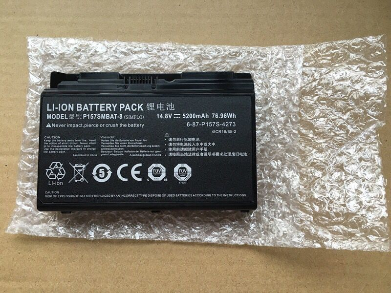 5200mAh 76.96Wh Clevo Terransforce P157S P157SM Battery