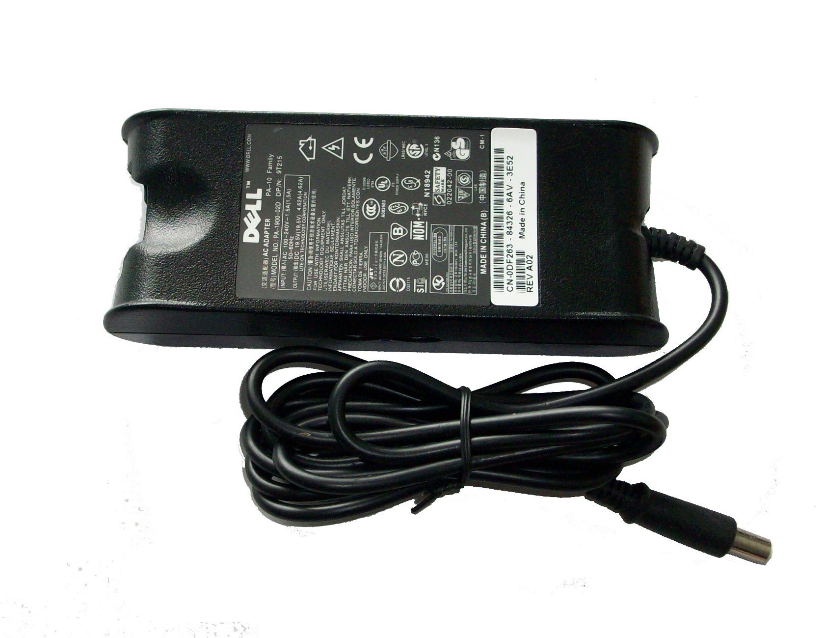 90W Dell Latitude D630c Charger AC Adapter Power Cord